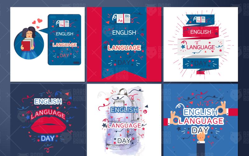 Banners del Día del Idioma Inglés - Plantilla de Identidad Corporativa