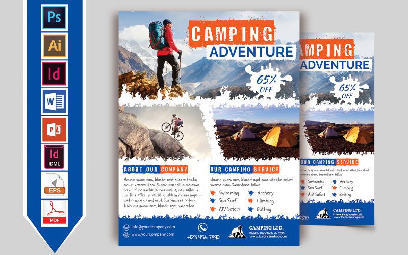Camping Adventure Flyer Vol-02 - Plantilla de identidad corporativa