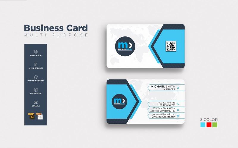 Diseño de tarjeta de presentación - Plantilla de identidad corporativa