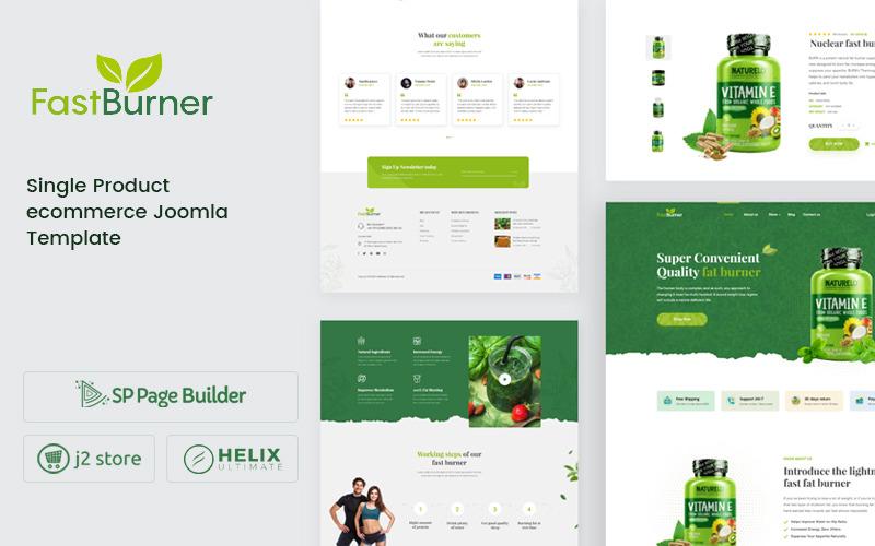 Fastburner - Plantilla Joomla de comercio electrónico de suplemento nutricional