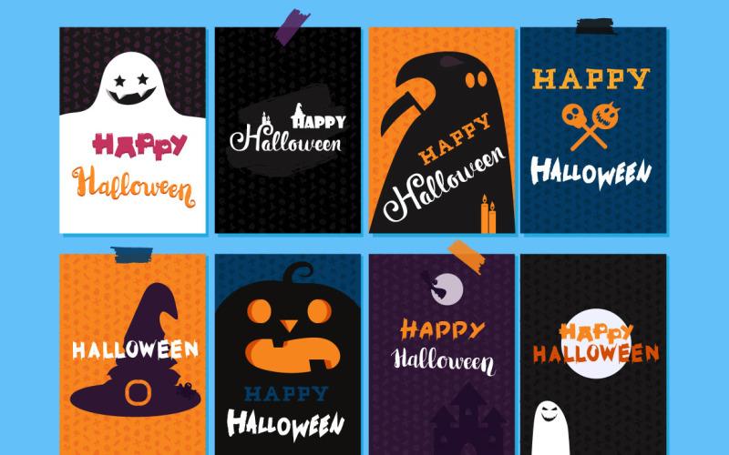Feliz Halloween Set - Plantilla de identidad corporativa