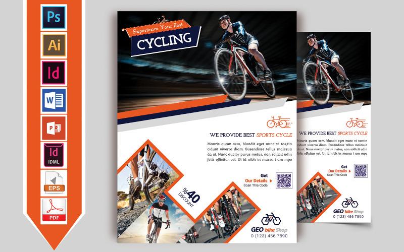 Flyer Cycle Shop Vol-01 - Plantilla de identidad corporativa