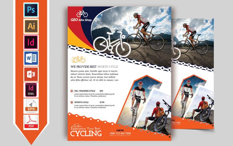 Flyer Cycle Shop Vol-02 - Plantilla de identidad corporativa