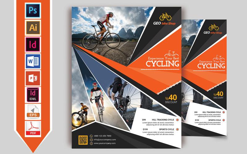 Flyer Cycle Shop Vol-03 - Plantilla de identidad corporativa