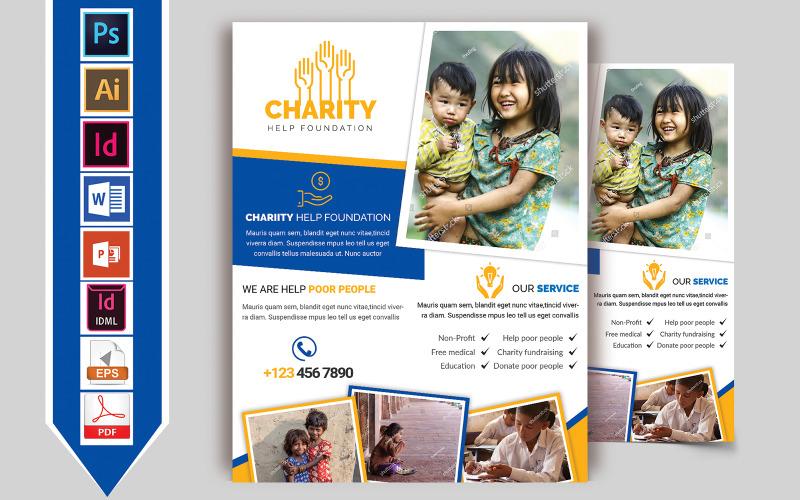 Folleto de donación de caridad Vol-02 - Plantilla de identidad corporativa