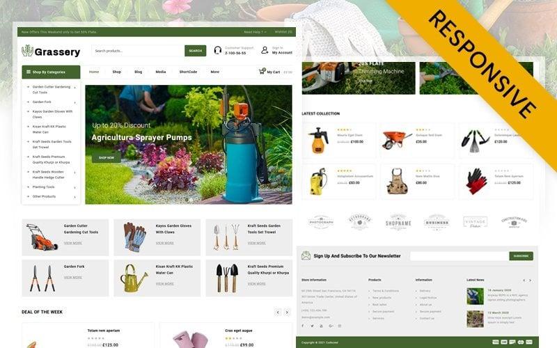 Grassery Garden Tools Store Thème WooCommerce