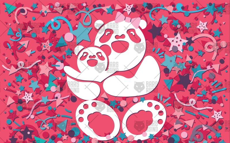 Happy Bear Mother - Plantilla de identidad corporativa