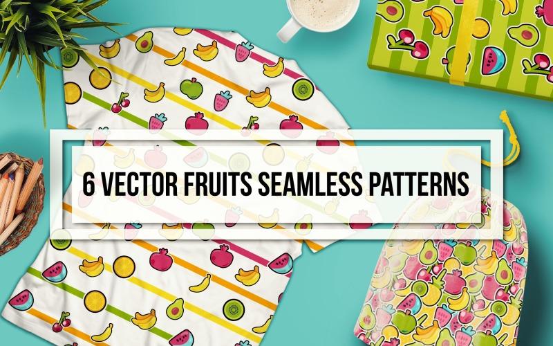 Happy Fruits Seamless Set Pattern