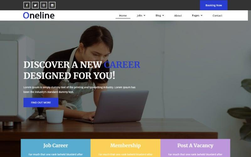 Job Portal Bootstrap Theme Website Template