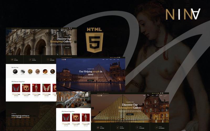 Nina | Plantilla de sitio web HTML5 para galería de arte, museo y exposición