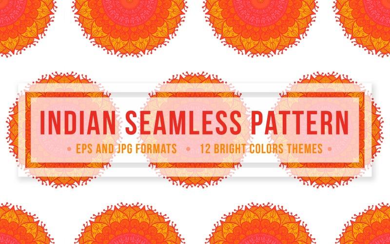 Patrón sin costuras indio
