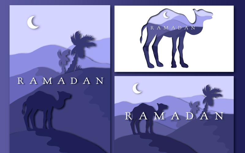 3 saludos de Ramadán - Plantilla de identidad corporativa