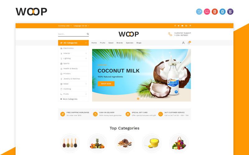 Woop Grocery Store OpenCart-sjabloon