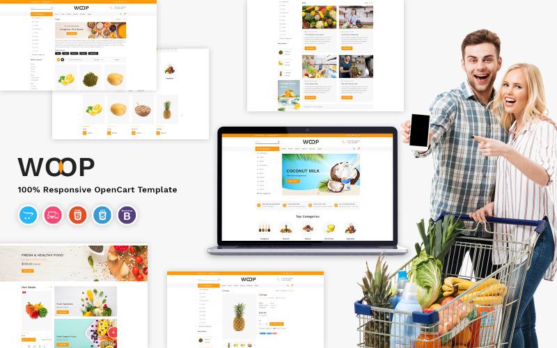 Woop - Plantilla OpenCart para tienda de abarrotes