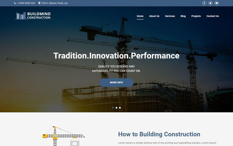 WordPress тема Buildmind Construction