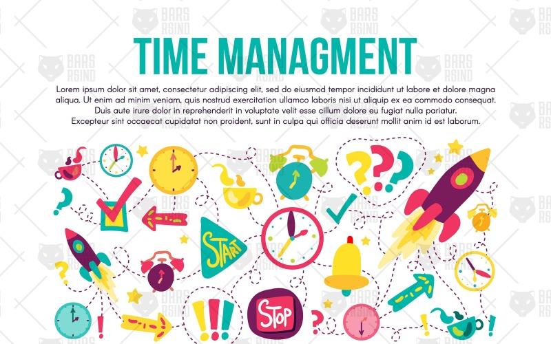 Banner de gestión del tiempo - Plantilla de identidad corporativa