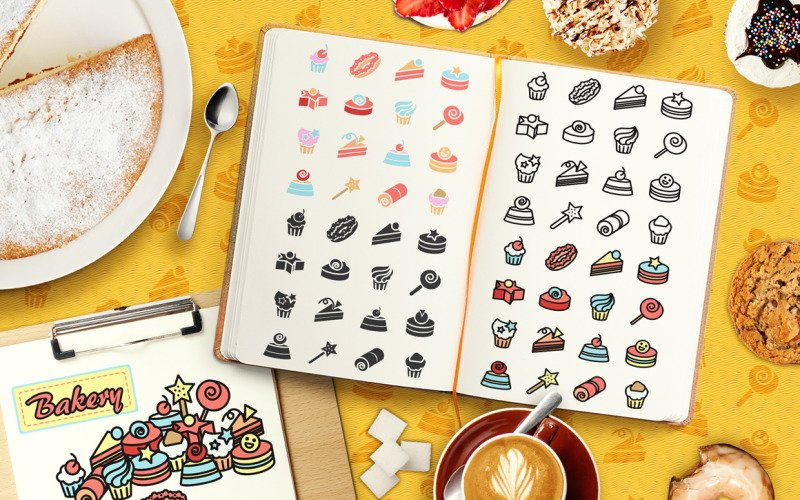 Cakes Elements Pack - Vector Image