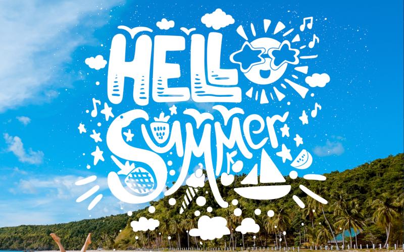 Cita grunge Hola verano - Plantilla de identidad corporativa