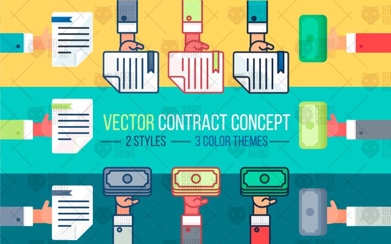 Concepto de contrato - plantilla de identidad corporativa