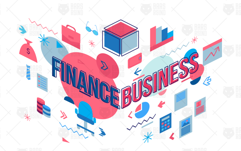 Concepto de negocios y finanzas - plantilla de identidad corporativa