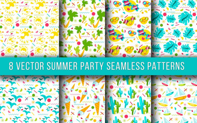 Fiesta de verano de patrones sin fisuras
