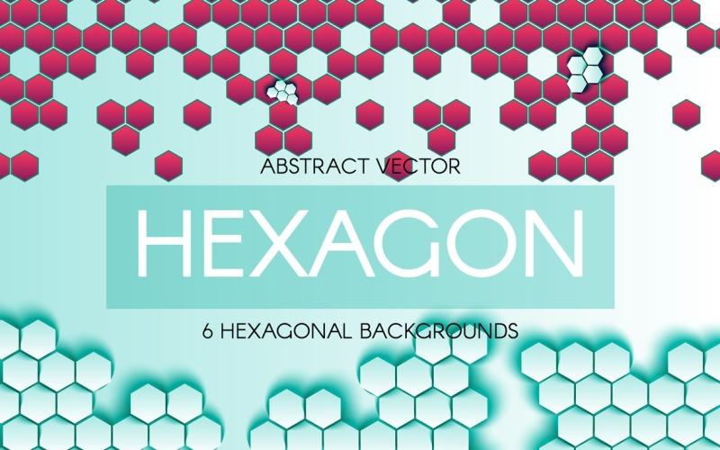 Fondos abstractos hexagonales - Plantilla de identidad corporativa