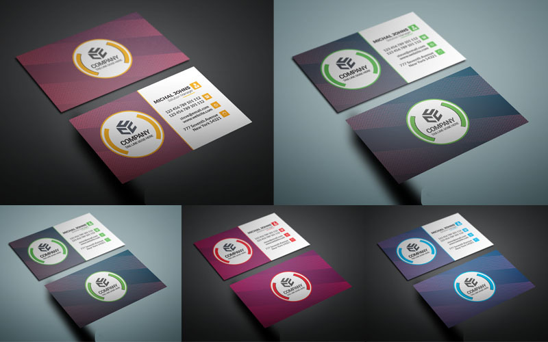Green Color business card - Corporate Identity Template