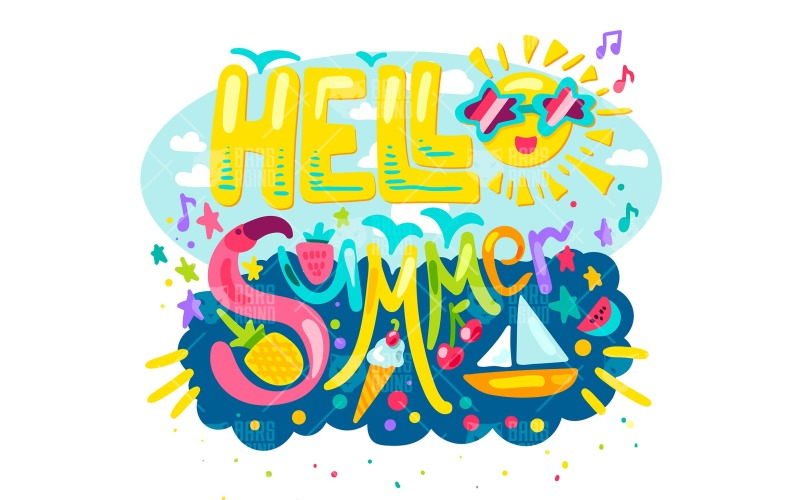 Hola verano tropical - plantilla de identidad corporativa