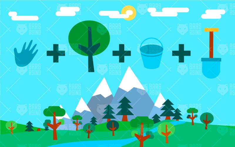 Infografía de ecología - Plantilla de identidad corporativa