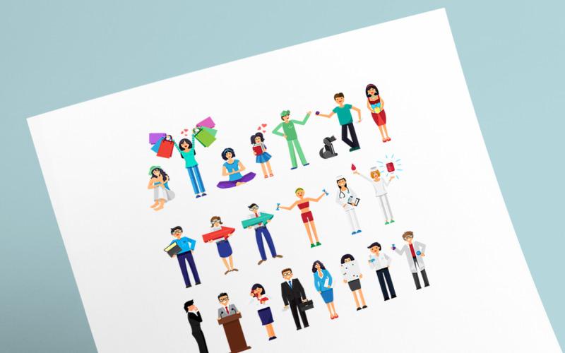Paquete de personas - Plantilla de identidad corporativa