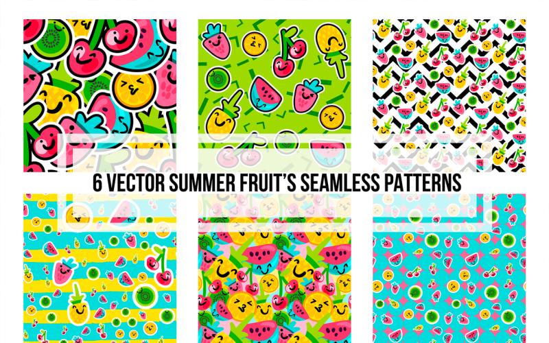 Patrón de conjunto de frutas de verano