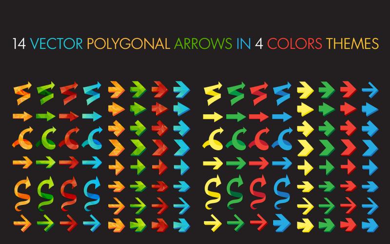 Polygonal Arrows Set - Corporate Identity Template