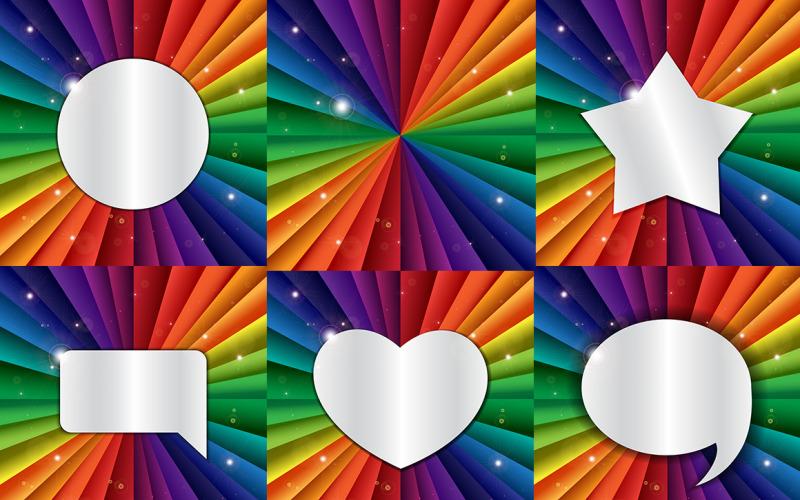 Rainbow Banners - Plantilla de identidad corporativa