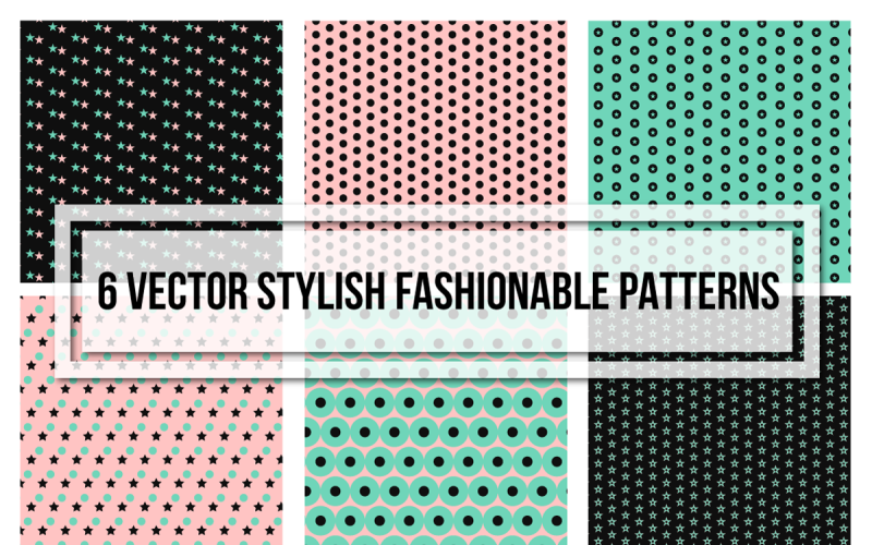 Stylish Fashionable Seamless Set Pattern