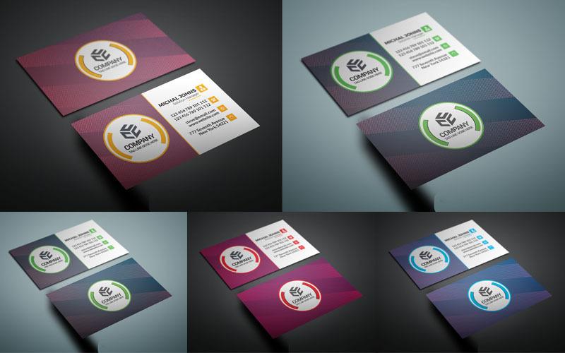Tarjeta de visita de color verde - Plantilla de identidad corporativa