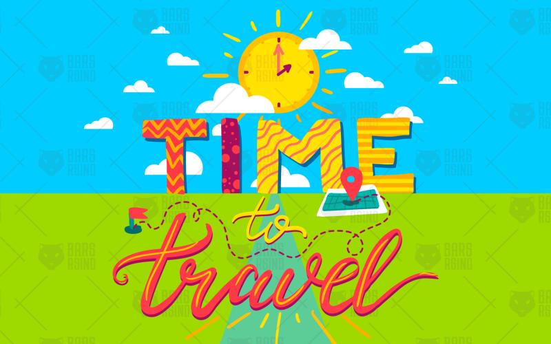Tiempo para viajar - Plantilla de identidad corporativa