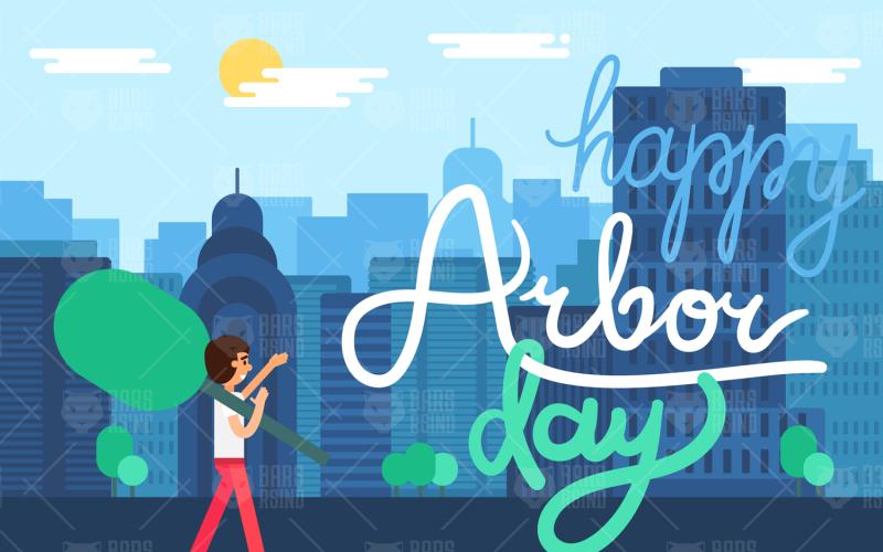 City Arbor Day - Plantilla de identidad corporativa