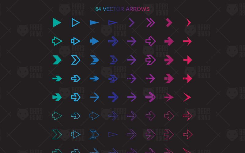 64 flechas set - plantilla de identidad corporativa