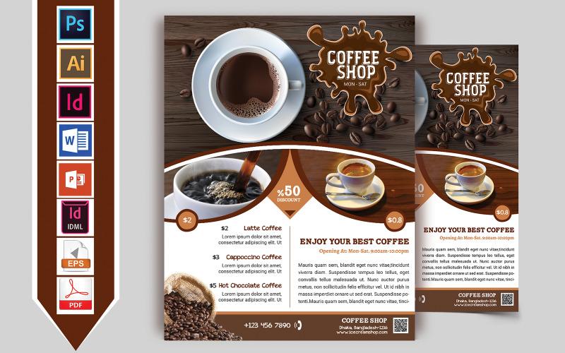 Folleto de cafetería Vol-01 - Plantilla de identidad corporativa