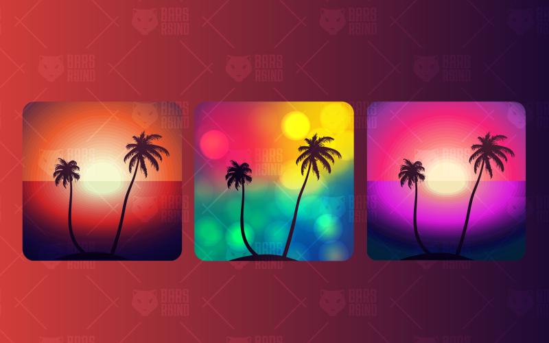 Palm Island - Plantilla de identidad corporativa