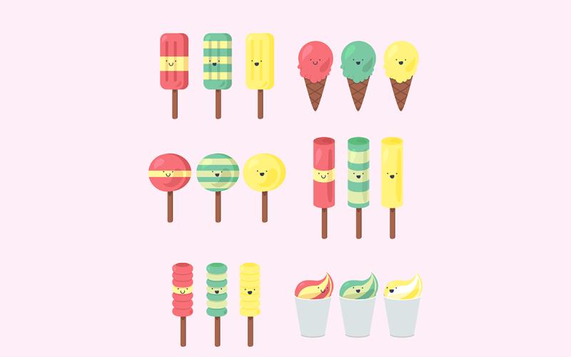 Paquete de helado sabroso - Plantilla de identidad corporativa