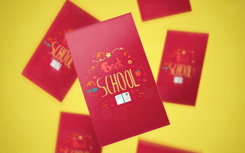 Pegatinas de letras de regreso a la escuela - Plantilla de identidad corporativa
