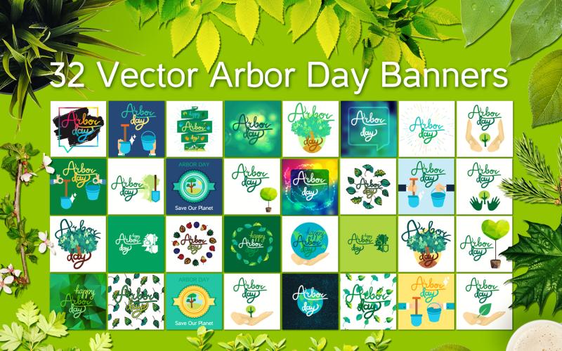 Arbor Day Set - Plantilla de identidad corporativa