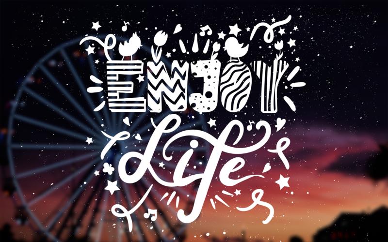 Enjoy Life Overlay - Plantilla de identidad corporativa