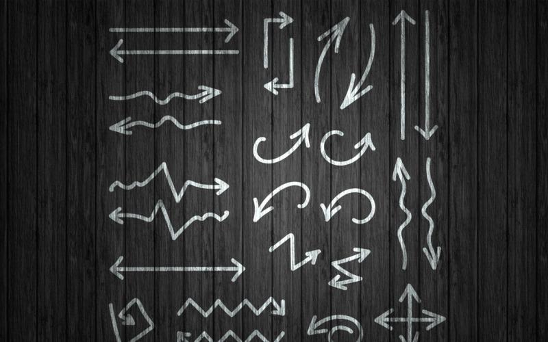 26 flechas dibujadas a mano - plantilla de identidad corporativa