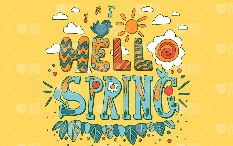 Hello Spring Composition - Plantilla de identidad corporativa