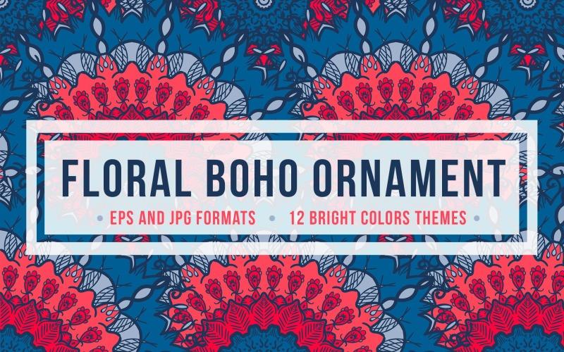 Ornamento floral Boho - Plantilla de identidad corporativa