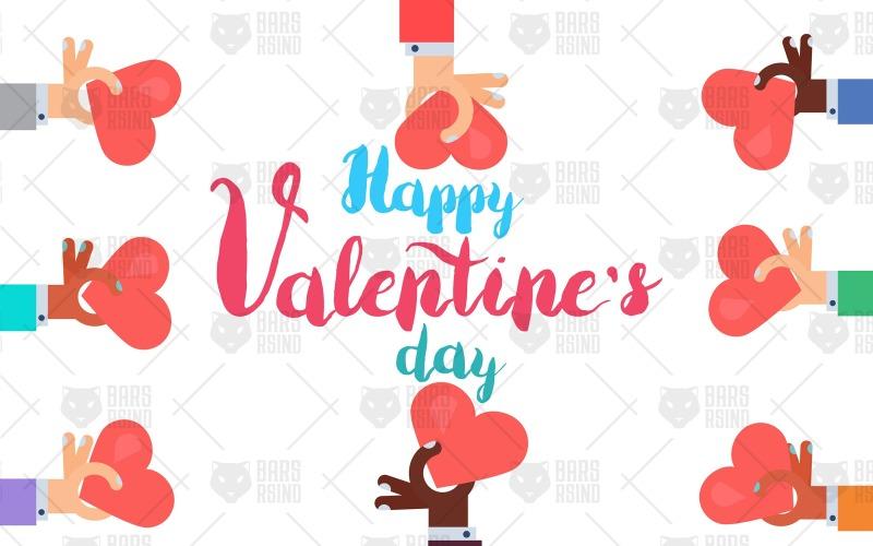 Tarjeta de felicitación divertida de San Valentín - Plantilla de identidad corporativa