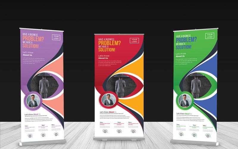 Banner enrollable - Plantilla de identidad corporativa