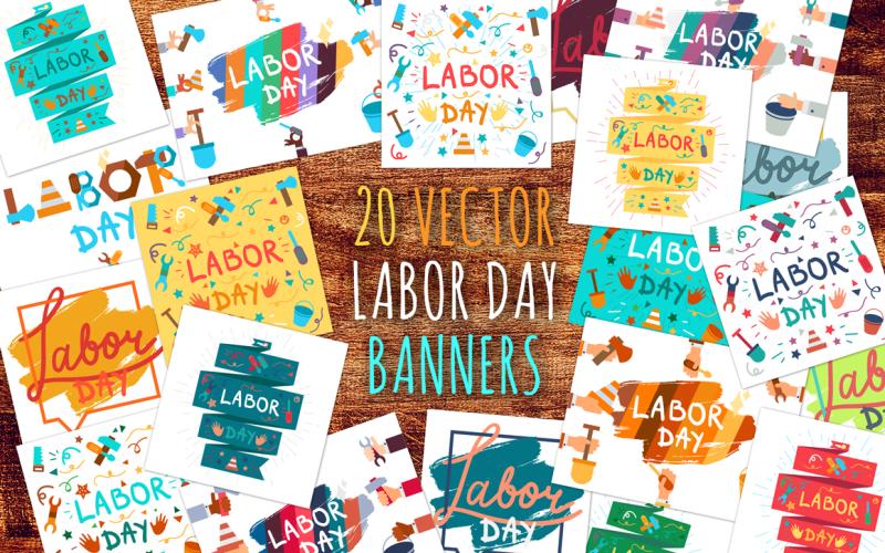 Banners del Día del Trabajo - Plantilla de identidad corporativa